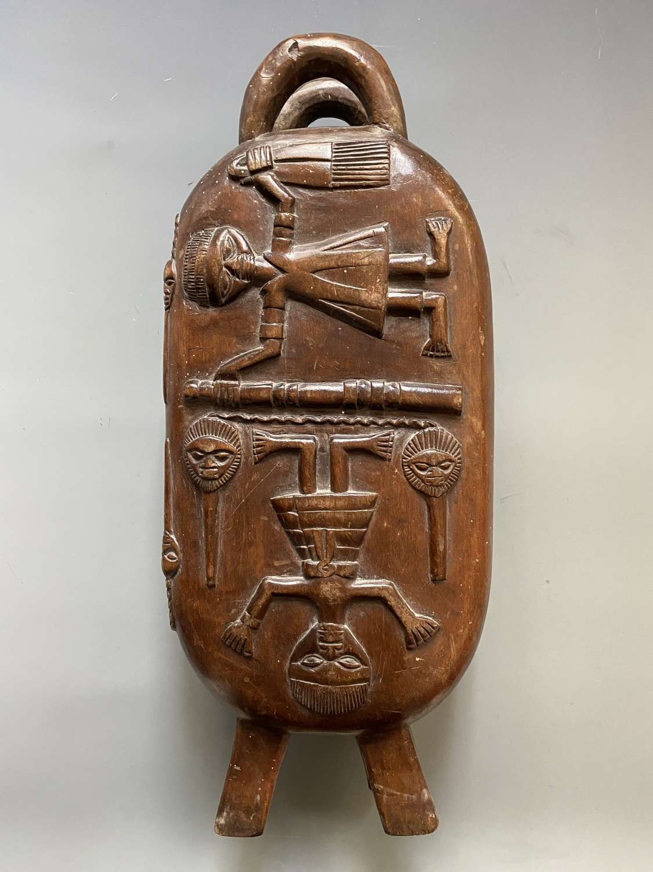 Fine Benin Nigeria Carved Wooden BoxAfrica