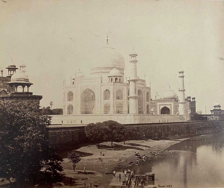 Taj Mahal India By Bourne 1878