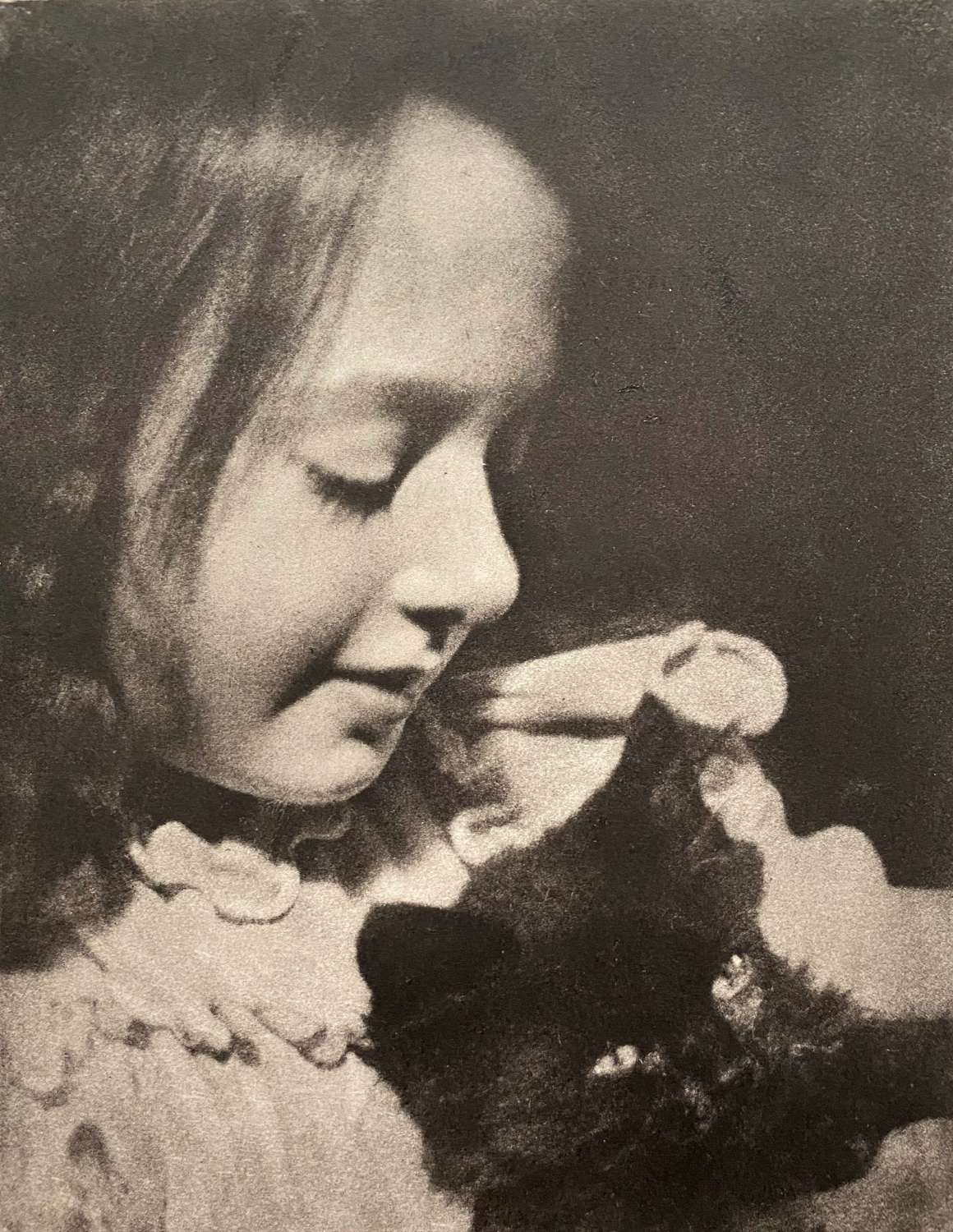 A Little Girl And Cat By Alexander Wilson Hill Scotland C1925