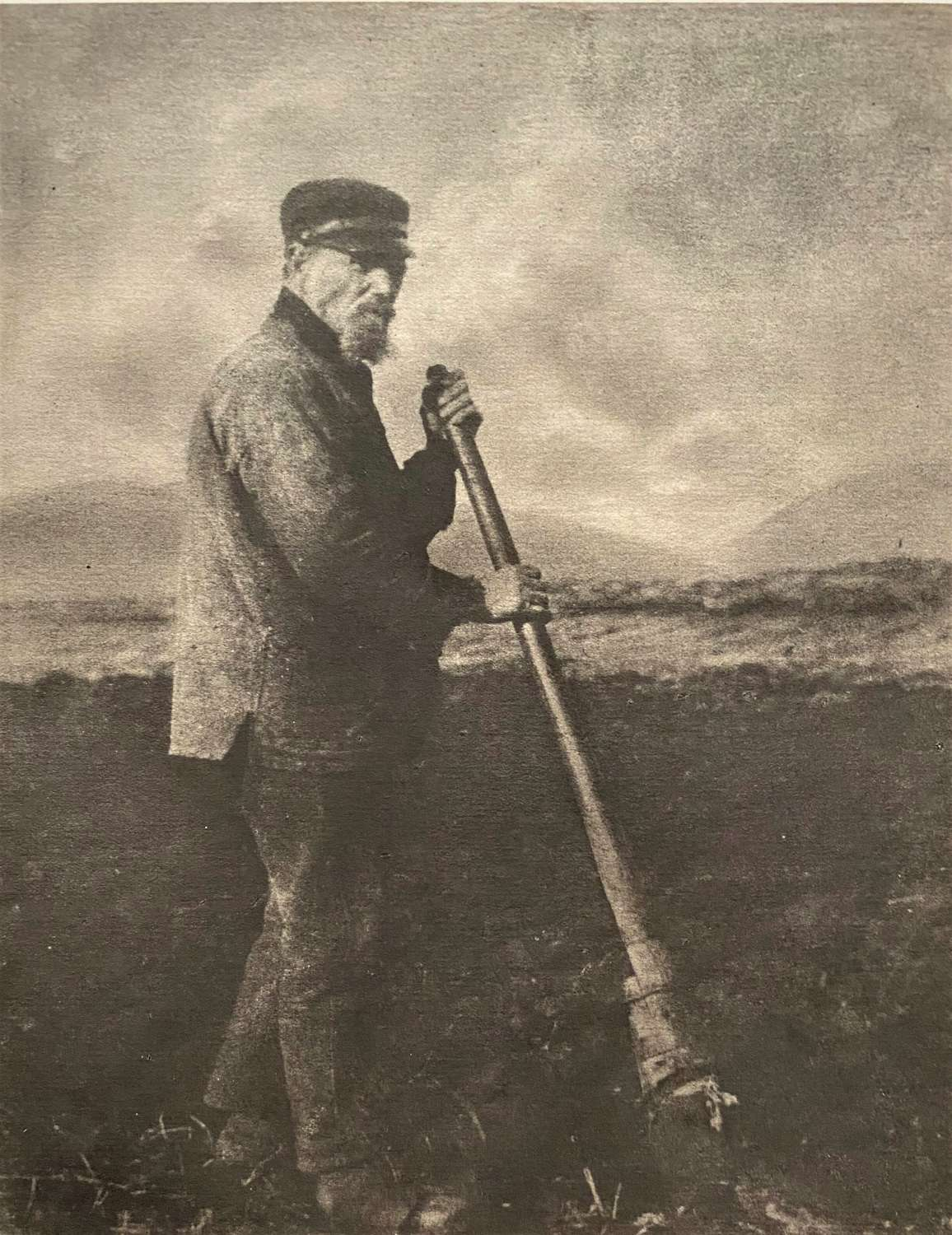 A Farmer By Alexander Wilson Hill Scotland C1925