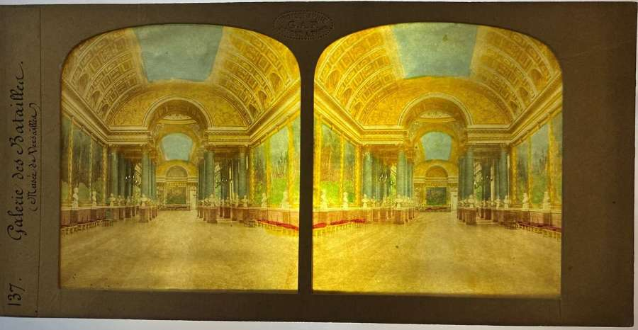 Tissue Hold to Light Stereoview The Palace of Versailles France