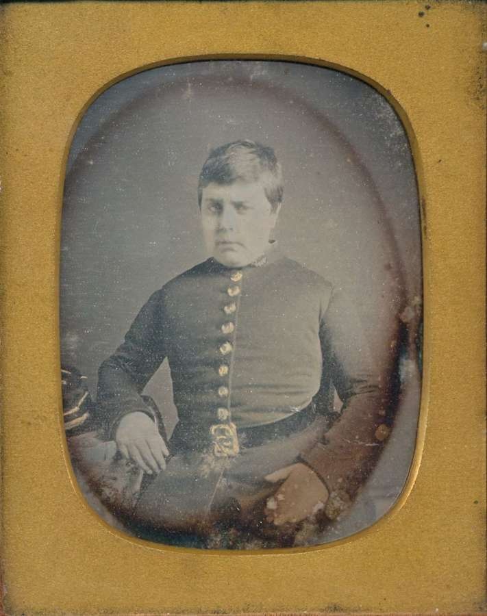 1/4 Plate Daguerreotype of a English Military Man  England  C1855