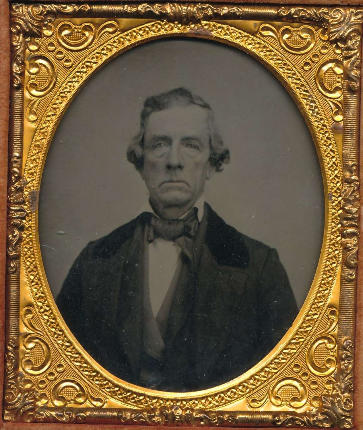 1/6 Plate Ambrotype of A Gentleman in a Union Case C1865