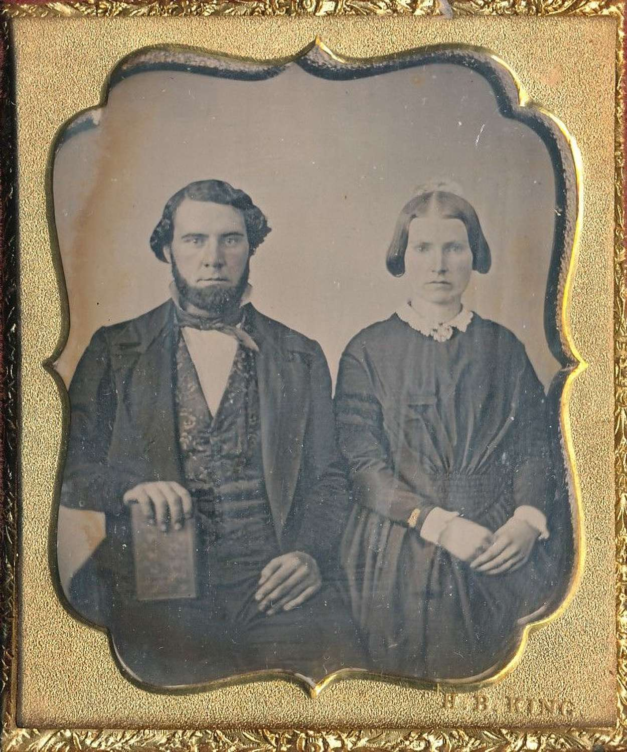 1/6 Plate Daguerreotype of a Couple By H.B.King America C1850