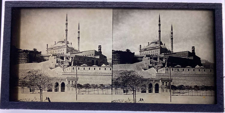 GlassStereoview Mosque of Muhammad Ali Cairo Egypt C1870