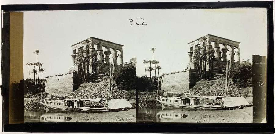 Stereoview The Hypaethral Temple (