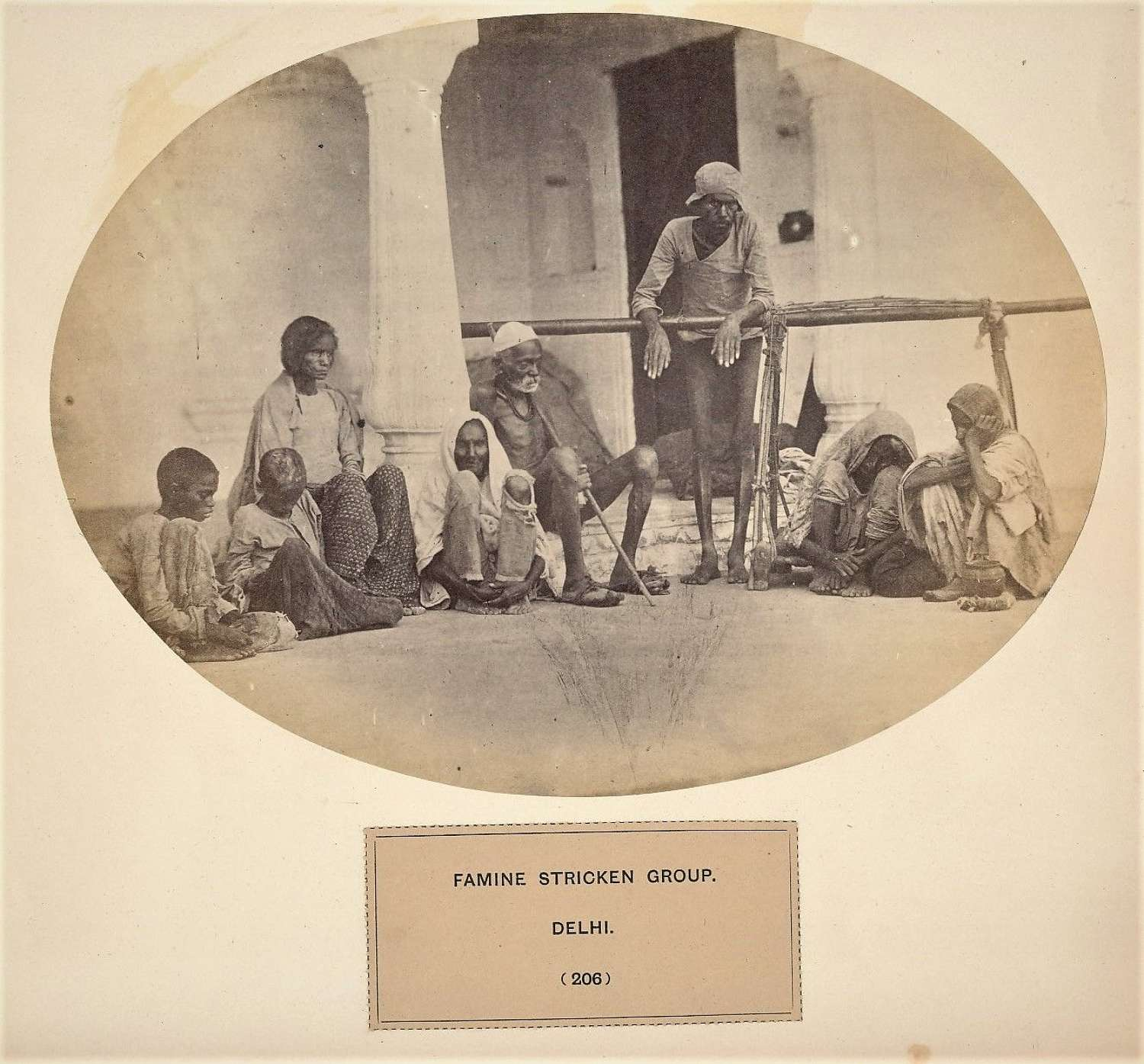 People of India Famine Stricken Group Delhi India C1865