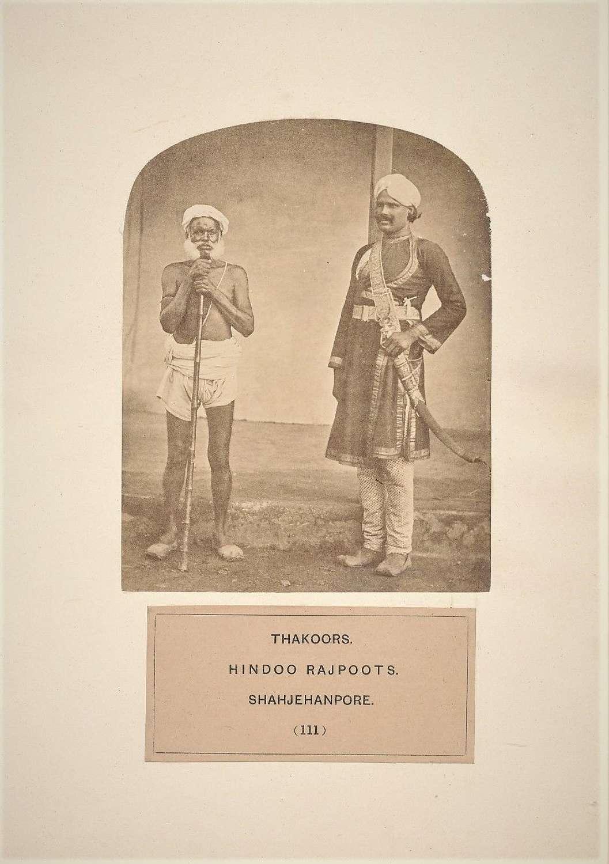Photo People of India Thakoors Hindoo Rajpoots. Shahjehanpore. India