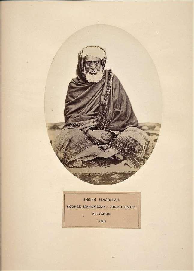 Sheikh Zeaoollan Soonee Mahomedan;Sheikh Caste.Allyghur India C1865