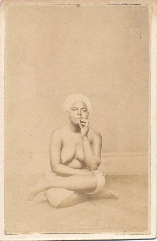 Rare CDV photo of Native Alpie Girl. South Pacific C1875