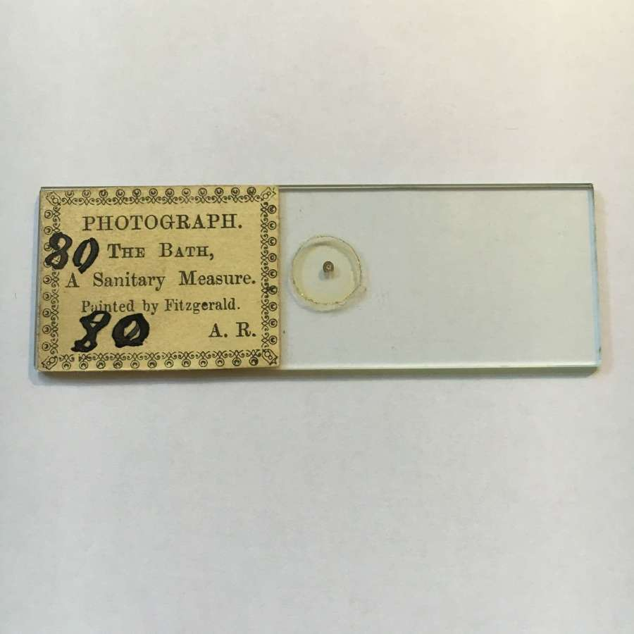 Microphotograph Microdot Slide By A.R.Photograph The Bath C1860 No 80