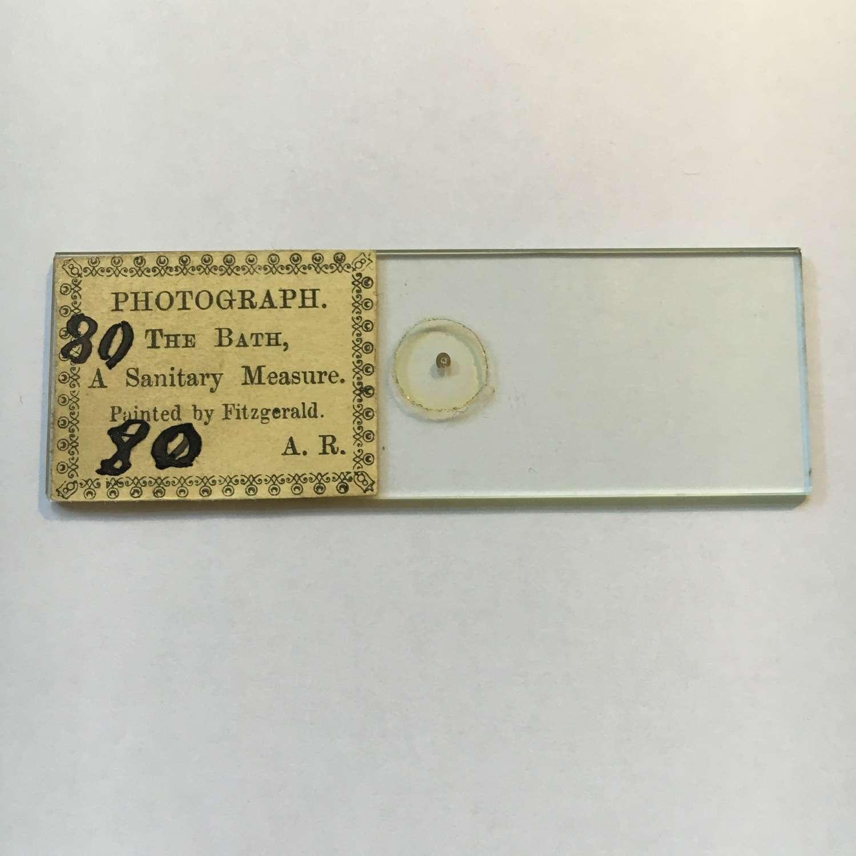 Microphotograph Microdot Slide By A.R.Photograph The Bath C1860 No 80