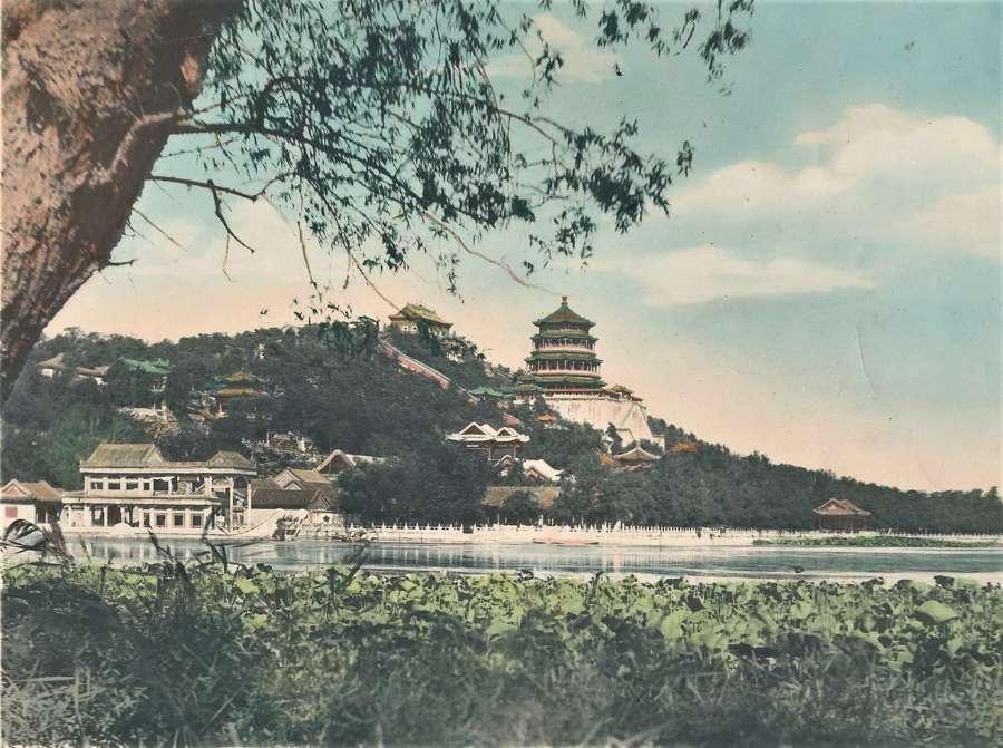 Hand Coloured PhotoSummer Palace Peking.Beijing China C1920