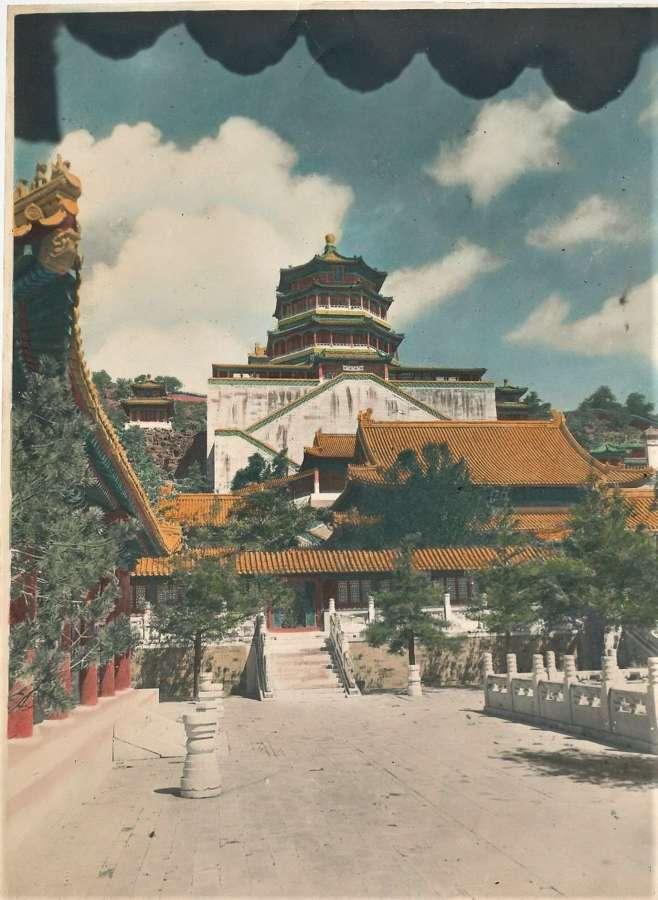 Hand Coloured PhotoSummer Palace Peking.Beijing China.C1920