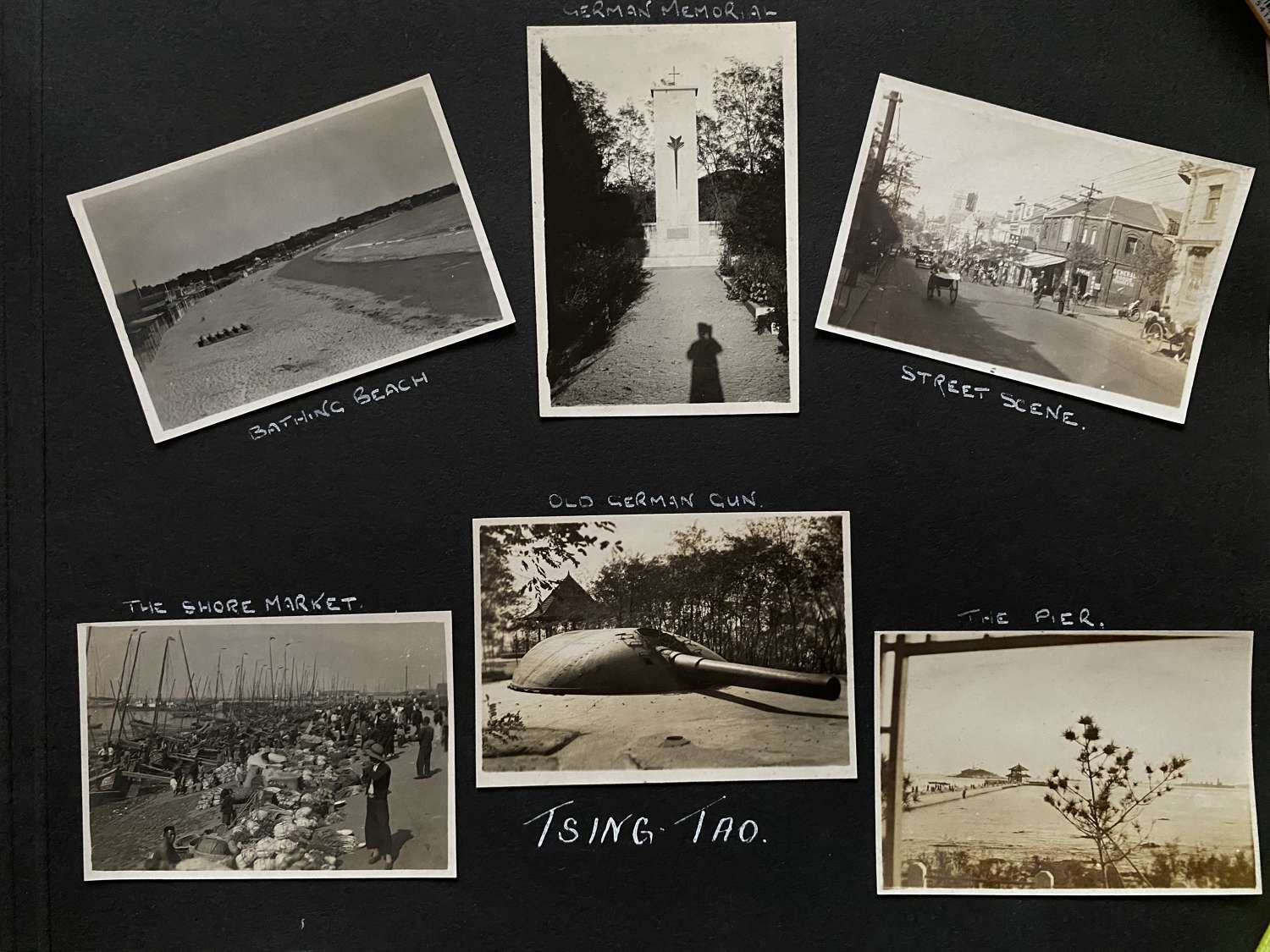 6 Photos View of Tsingtao. ( Tsing Tao )Street Scene Etc. China C1935