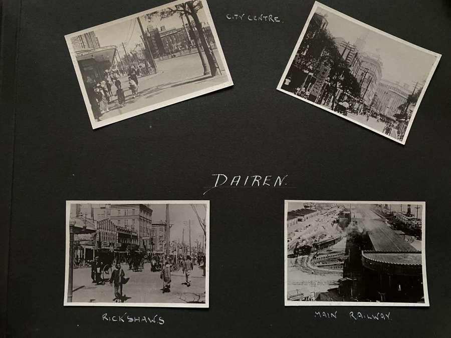 4 Photos View of Dalian Street Scenes & Railway. China C1935