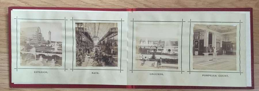 Book of 12 Original Photos of The Crystal Palace Exhibition C1860