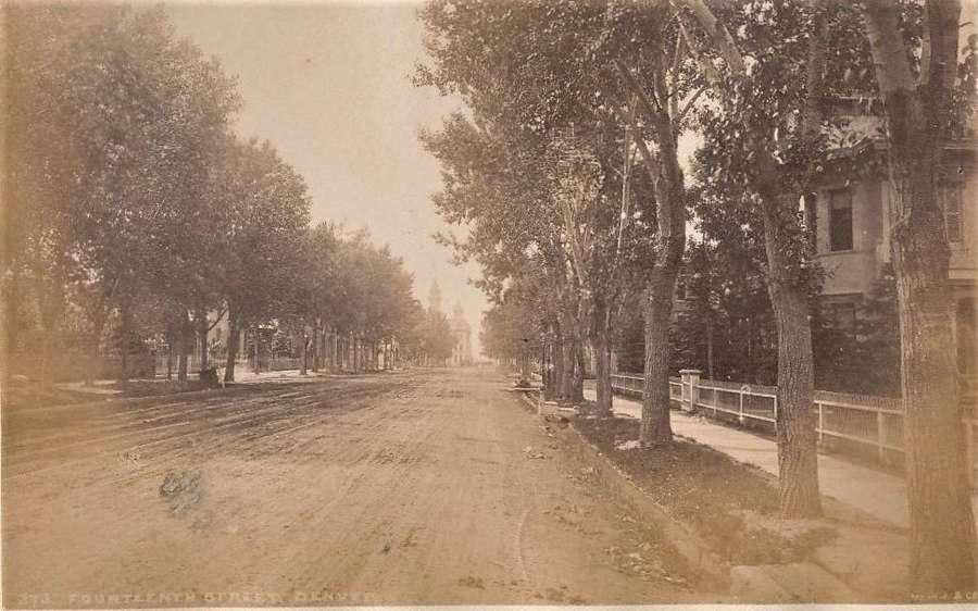 14st StreetDenver U.S.A.By William Henry Jackson.