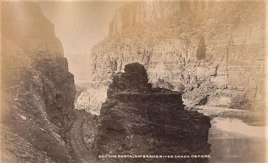 The Rocky Mountains Grand River Canon U.S.A By D. & R.G.R.R.