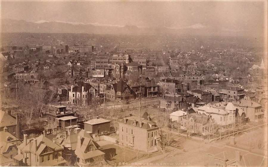 Panorama of Denver City North West By William Henry Jackson.