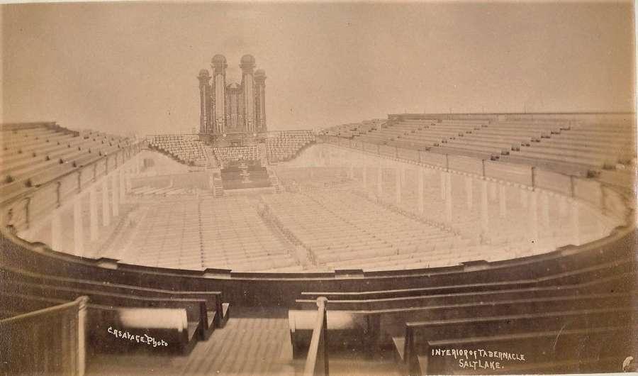Interior of Tabernacle Salt Lake City U.S.A. By C.R.Savage.