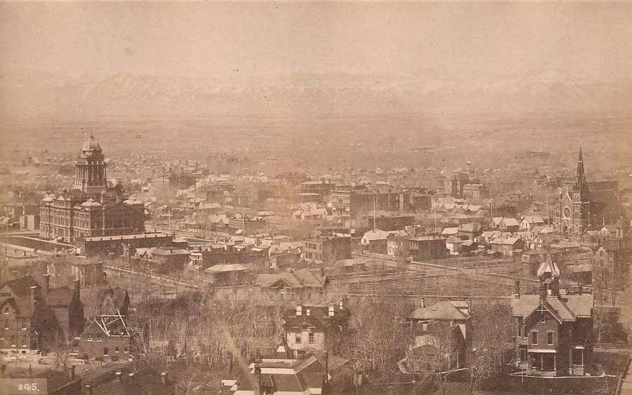 Panorama From Capitol Hill DenverU.S.A William Henry Jackson.