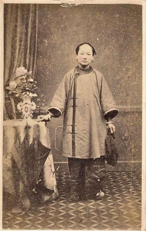 CDV Photo ChineseLady China C1865