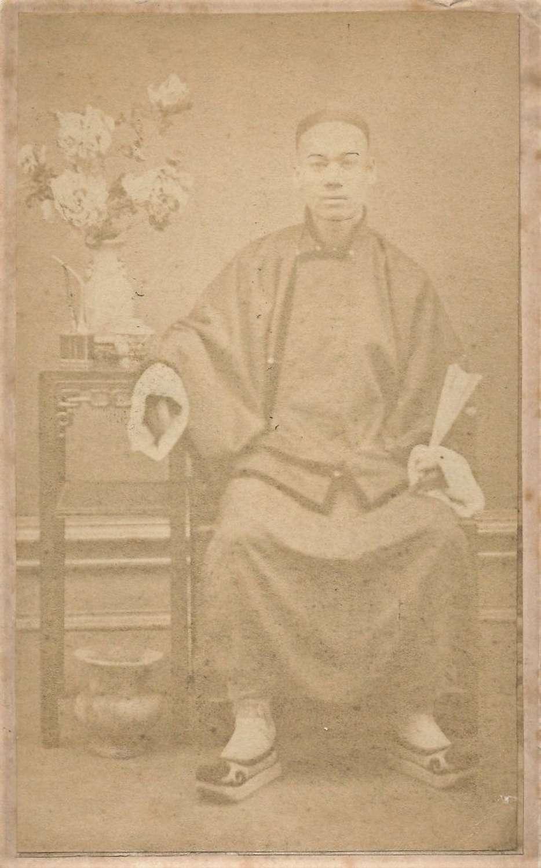 CDV Photo of A Chinese Man. China C1870.