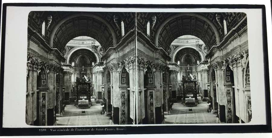 Stereo Glass View Rome Italy C1860 No. 7322