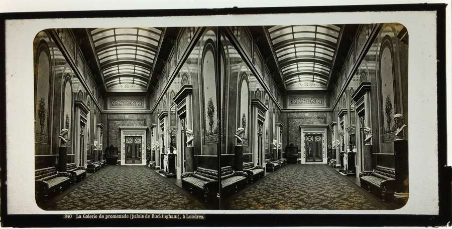 Stereo Glass View of The Promenade Gallery Buckingham Palace. England
