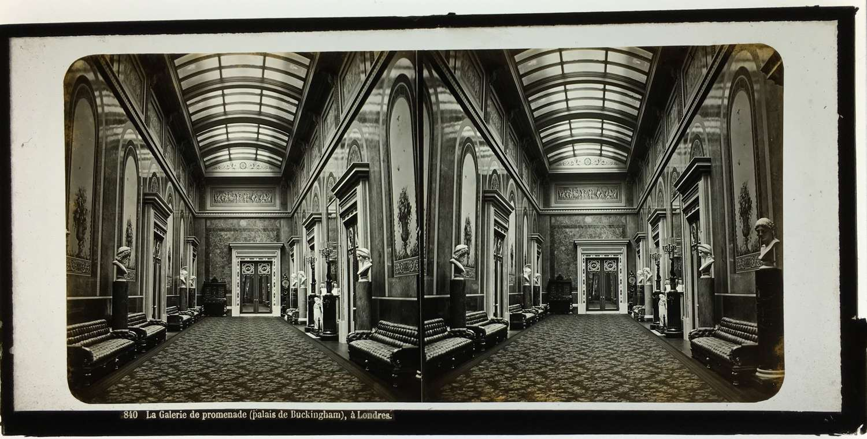 Stereo Glass View ofThe Promenade Gallery Buckingham Palace. England