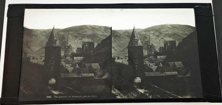 Stereo Glass General view of Bacharach France C1860