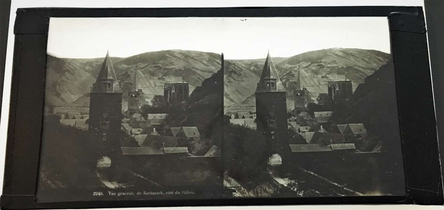Stereo GlassGeneral view of Bacharach France C1860