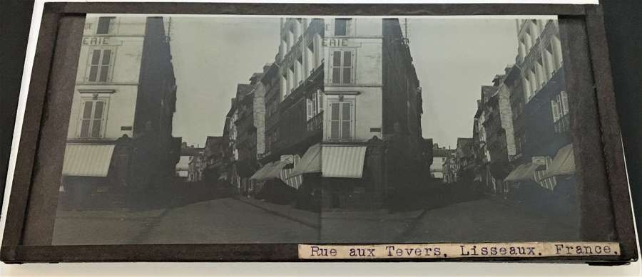 Stereo Glass Rue aux Tevers. Lisseaux France  C1860