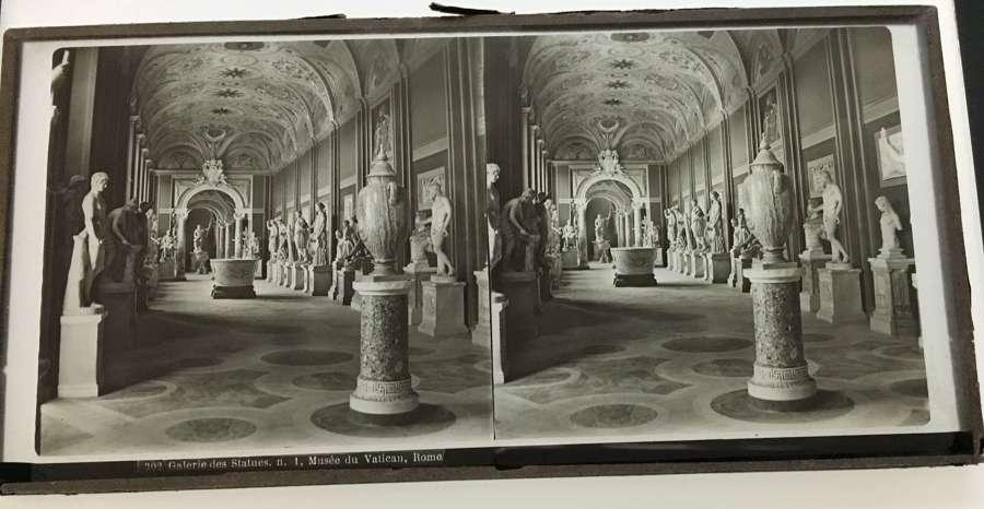 Stereo Glass Galerie de StatuesVatican Rome Italy No. 302C1860