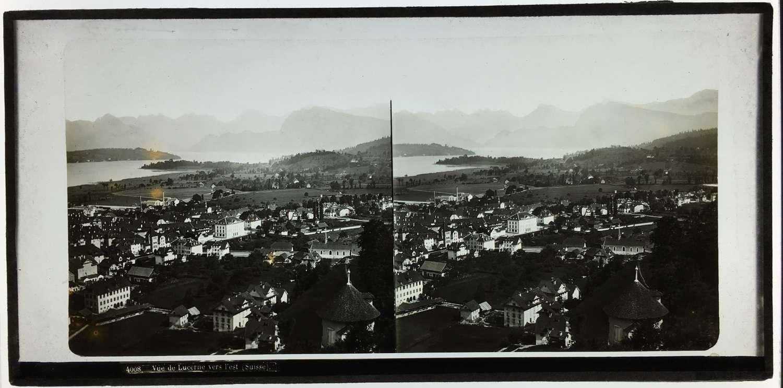 Stereo GlassView of LucerneSwitzerland .C1860.