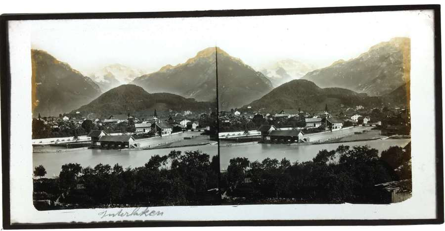 Stereo Glass Interlaken Switzerland .C1860.