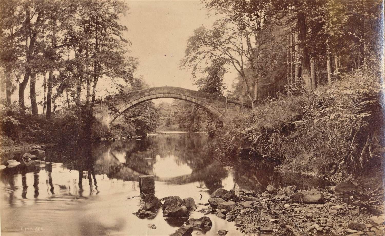 Beggar's Bridge Glaisdale Whitby By F M Sutcliffe C1885 No 666