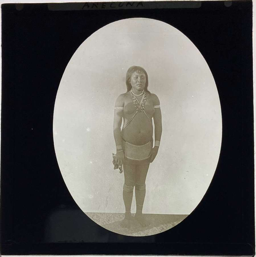 Lantern Slide Arecuna Tribe Woman Indigenous People Brazil. Guyana