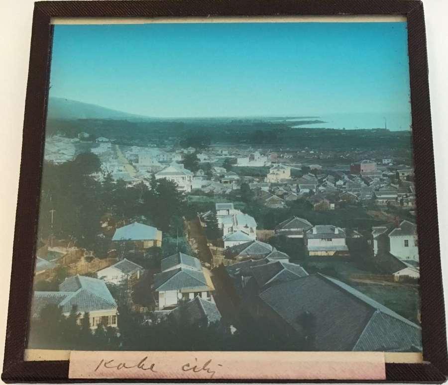 Lantern SlidePanoramic View ofKobe CityJapan C1910