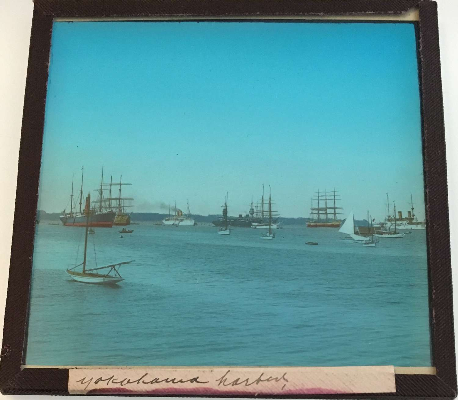 Lantern Slide Yokohama Harbor Japan C1910