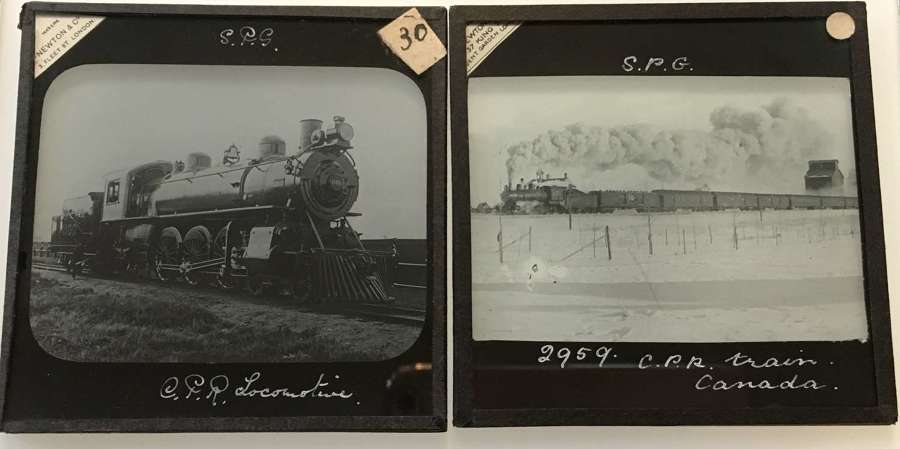 5 Lantern Slides Canadian Pacific Railway , Canada. C1900