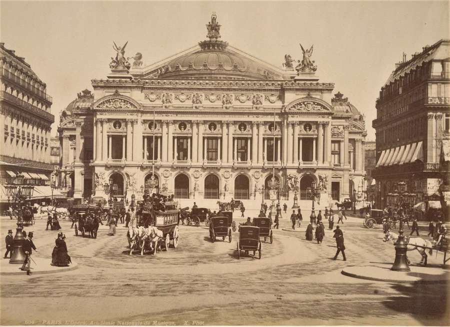 Opera House Paris France By X. Phot C1880