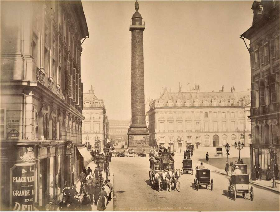 La Place Vendome Paris France By X. Phot C1880
