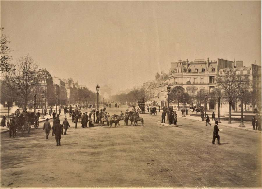 Champs-Élysées Paris France By X. Phot C1880