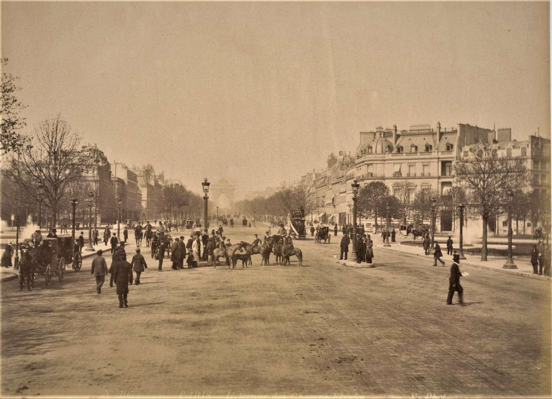 Champs-Élysées Paris France By X. Phot C1880