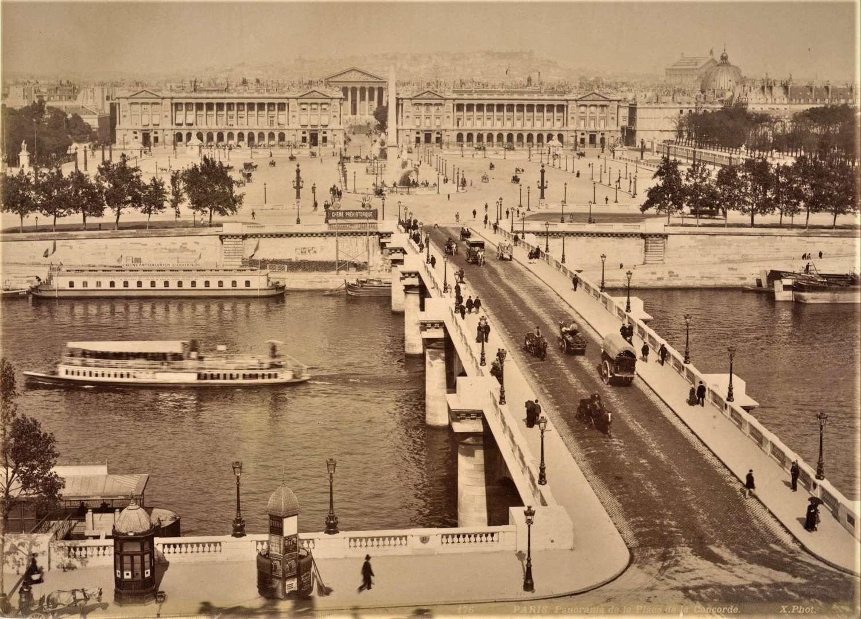 Panorama de la Place de la ConcordeParis France By X. Phot C1880