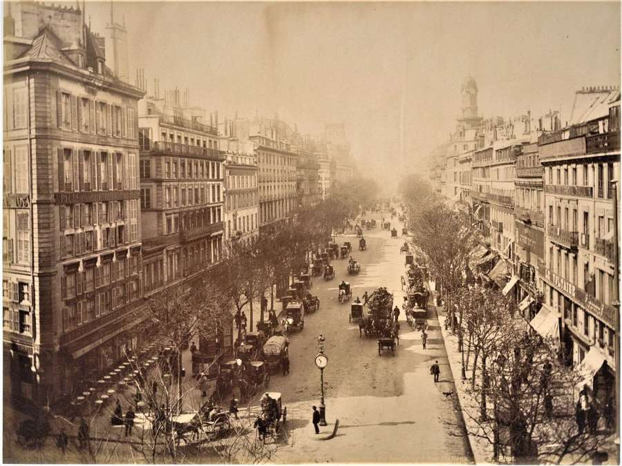 Du Boulevard des Italiens Paris France By X. Phot C1880