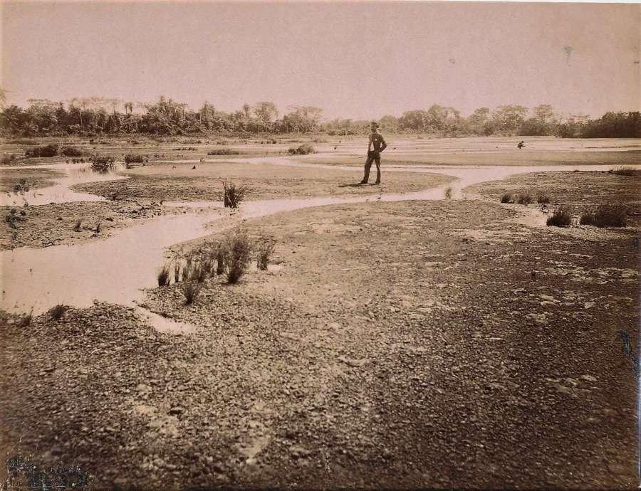 View of Pitch Lake TrinidadCaribbean C1880
