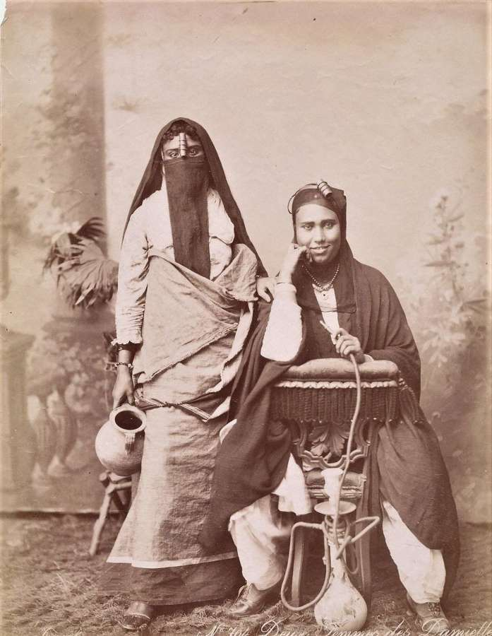 Two Native Arab Ladies Egypt C1880